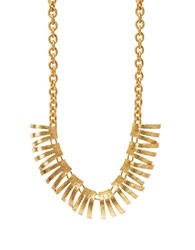Gerard Yosca Fringed Necklace Gold