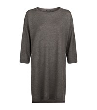 Eileen Fisher Boat Neck Tunic Top Female Grey