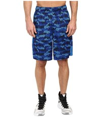 Nike Elite 9 Basketball Short Deep Royal Blue Matte Silver Men's Shorts