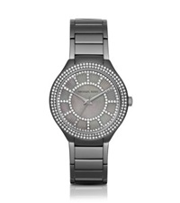 Michael Kors Kerry Pave Gunmetal Tone And Mother Of Pearl Watch