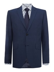 Howick Weston Sb2 Notch Lapel Panama Suit Jacket Navy