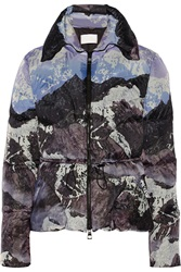 Peter Pilotto Cara Quilted Printed Shell Jacket Purple