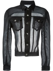Christopher Shannon Open Back Mesh Jacket Black