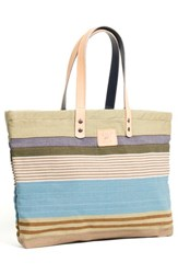 Will Leather Goods 'Weaver's House' Reversible Canvas Tote Blue Blue Multi