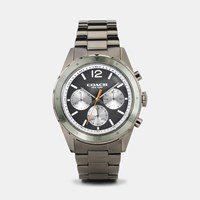 Coach Sullivan Sport Ionized Plated Bracelet Watch Gunmetal