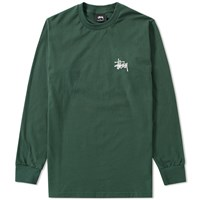 Stussy Long Sleeve Basic Tee Green