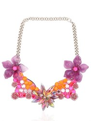 Ortys Floral Wire Frame Necklace
