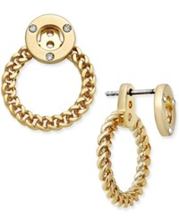 Kate Spade New York Infinity And Beyond Gold Tone Modern Hoop Earring Jackets