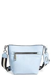 Marc Jacobs 'Gotham' Leather Bucket Bag Blue Cielo With Black Multi Strap