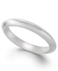 Classic By Marchesa Diamond Accent Wedding Band In 18K White Gold