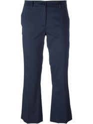 P.A.R.O.S.H. Flare Trousers Blue