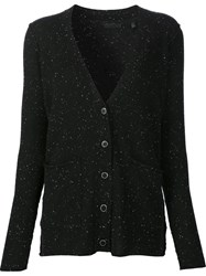 Atm Anthony Thomas Melillo V Neck Cardigan Black