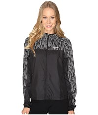 Nike Shield Flash Running Jacket Black Reflective Silver Women's Coat