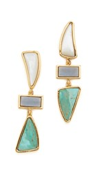Lizzie Fortunato Santa Fe Earrings Gold Multi