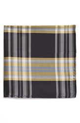 Men's Original Penguin 'Baltic Plaid' Silk Pocket Square