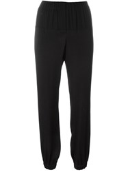 Lanvin Drop Crotch Trousers Black