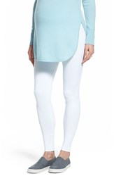 Women's Tees By Tina Micro Rib Maternity Leggings White