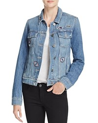 Paige Crystal Patch Denim Jacket 100 Bloomingdale's Exclusive Crystalized