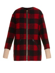 Etoile Isabel Marant Gelcia Contrast Cuffs Checked Coat
