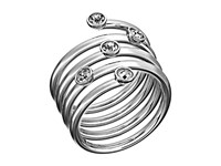 Michael Kors Brilliance Ring Silver Clear 2 Ring