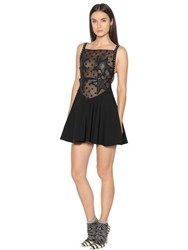 Giamba Embellished Organza And Crepe Dress