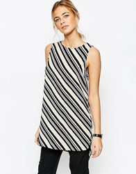 New Look Long Line Tunic With Side Splits Black