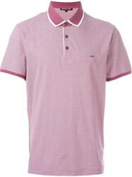 Michael Kors Contrast Trim Polo Shirt Pink And Purple