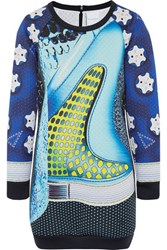 Adidas Originals Mary Katrantzou Rowdy Scuba Jersey Mini Dress Turquoise