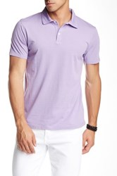 Mason Short Sleeve Jersey Polo Purple