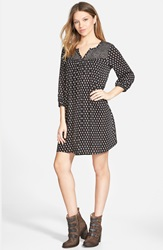 Paisley Print Shift Dress Online Only Black Taupe