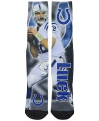 For Bare Feet Andrew Luck Indianapolis Colts Drive Player Jersey Crew Socks Black Assorted