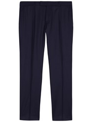 Jaeger Super 120S Wool Regular Fit Suit Trousers Navy
