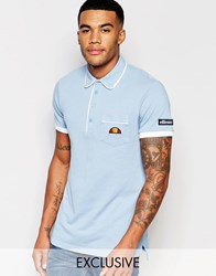 Ellesse L.S Polo Shirt Blue