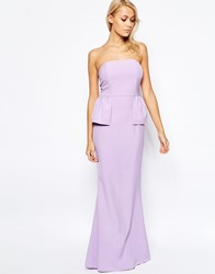 Jarlo Freya Maxi Dress With Peplum Detail Lilac Purple