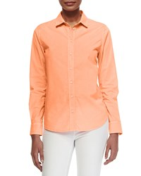 Venice Long Sleeve Twill Blouse Pink