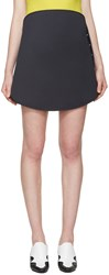 Courreges Navy Circular Miniskirt