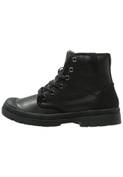 Your Turn Laceup Boots Black