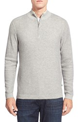 Tommy Bahama 'Seaside Lux' Cotton And Cashmere Half Zip Sweater Flannel