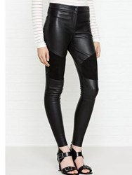 Karl Lagerfeld Leather Biker Pant Black