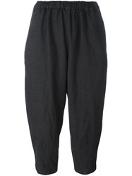 Comme Des Garcons Elastic Waistband Cropped Trousers Black