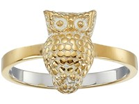 Anna Beck Owl Ring Sterling Silver 18K Gold Vermeil Ring