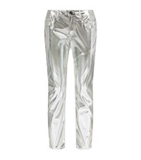 Pinko Silver Trousers Female
