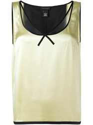 Marc Jacobs Satin Tank Top Yellow And Orange