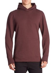 John Elliott Hooded Cotton Sweatshirt Maroon