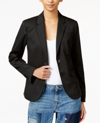 Tommy Hilfiger Pick Stitched Double Button Blazer Only At Macy's Black