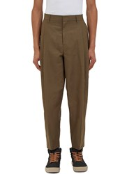 Acne Studios Piano Pleated Linen Pants Khaki