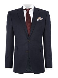 Chester Barrie Plain Tailored Fit Suits Navy