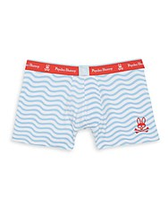 Psycho Bunny Wave Striped Knit Boxer Briefs Bluebell