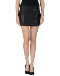 Atos Lombardini Mini Skirts Dark Blue