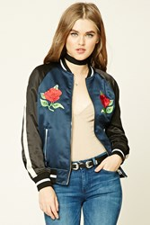 Forever 21 Highlands Souvenir Jacket Black Navy